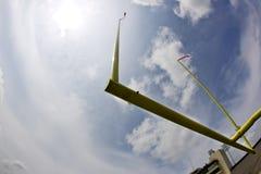 American Football Goal. A single American football goal post against a bright blue autumn sky Stock Photos