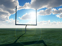 American Football Goal. An American football post on a field Royalty Free Stock Images