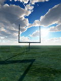 American Football Goal. An American football post on a field Stock Images