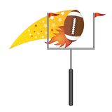 American football with goal post Royalty Free Stock Photos
