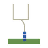 American football goal post Stock Photos