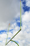 American Football Goal Posts Royalty Free Stock Photos