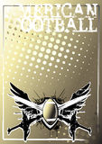 American football golden poster background 2 Stock Photo
