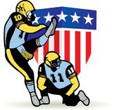 American football graphic Royalty Free Stock Images