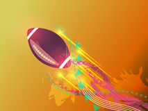 American football graphic background Royalty Free Stock Photos