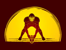 American football graphic vector Royalty Free Stock Photography