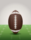 American Football on Grass Field Illustration Royalty Free Stock Photos