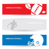 American football headers Royalty Free Stock Images