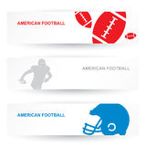 American football headers Royalty Free Stock Image