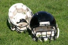 American football helmet. Details of American football helmets Royalty Free Stock Photo