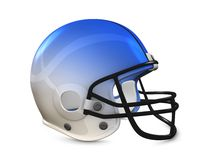 American football helmet. 3d rendering, American football helmet isolated on white background Royalty Free Stock Photo