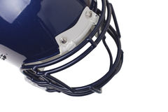 American Football helmet. Isolated on white, copy space Royalty Free Stock Photo