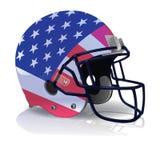 American Football Helmet with American Flag Illustration Stock Image
