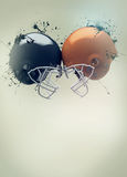 American football helmet background Royalty Free Stock Images