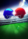 American football helmet background Royalty Free Stock Photography