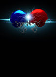 American football helmet background Stock Photography