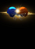 American football helmet background Stock Photos