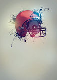 American football helmet background. American football sport invitation poster or flyer background with empty space Stock Image