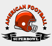 American Football Helmet Badge. Vector illustration of super bowl American football theme Stock Images