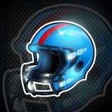 American football helmet in center. Sport logo for any team. Or competition vector illustration