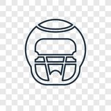 American Football HElmet concept vector linear icon isolated on vector illustration
