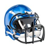 American football helmet, 3D rendering. Isolated on white background Stock Image