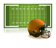 American Football Helmet and Field Illustration Royalty Free Stock Images