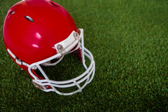 An american football helmet on the field Stock Images