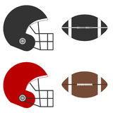 American football. Helmet for the game of . Flat design,  illustration Royalty Free Stock Image