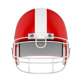 American Football Helmet Isolated. On white background. 3D render Stock Photography