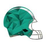 American football helmet protection abstract geometric. Vector illustration eps 10 royalty free illustration