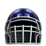 American football helmet. Sample American football helmet. Front view. Sport equipment. 3D render Illustration Isolated on white background Stock Image