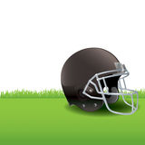 American Football Helmet Sitting on Grass Illustration Stock Photo