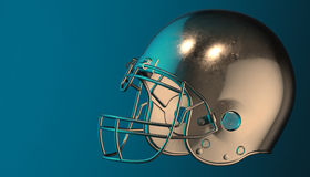 American football helmet on various material and background Stock Image