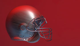 American football helmet on various material and background. American soccer 3d render helmet Royalty Free Stock Photos