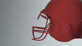 American football helmet on various material and background. American soccer 3d render helmet Royalty Free Stock Photo