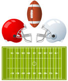 American Football Helmets Royalty Free Stock Photo