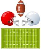 American Football Helmets Royalty Free Stock Photo