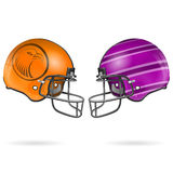 American Football Helmets Stock Photography