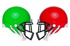 American football helmets isolated stock photos