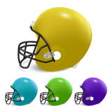 American football helmets isolated on white background. Royalty Free Stock Photo