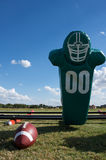 American Football Hit Pad and Ball Royalty Free Stock Photo