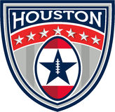 American Football Houston Stars Stripes Crest Retro Royalty Free Stock Images