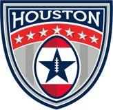 American Football Houston Stars Stripes Crest Retro Royalty Free Stock Images