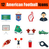 American football icon Stock Photography
