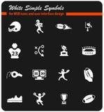 american football icon set Royalty Free Stock Photo