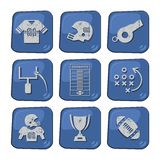 American football icon set Stock Photos