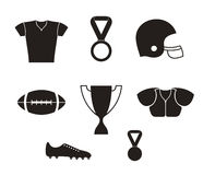 American football. Icon set Stock Photo