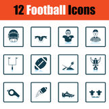 American football icon Royalty Free Stock Photography