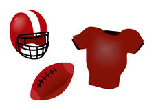 American Football Icons Royalty Free Stock Photo